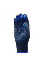 Перчатки чёрные с  ПВХ  большие